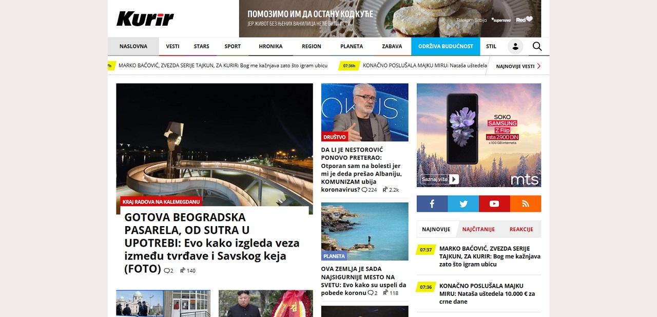 Zabavni ili medija sajtovi - Kurir