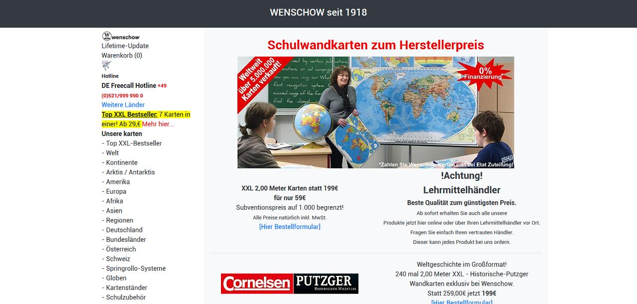 Redizajn sajta - wenschow.de
