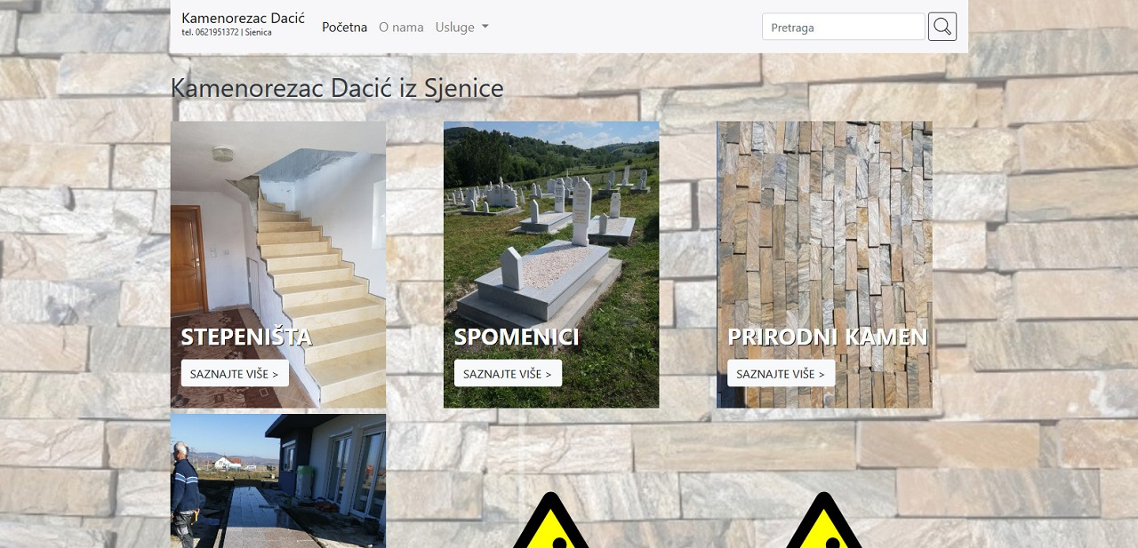 Brošura veb sajt - www.kamenorezacdacic.rs