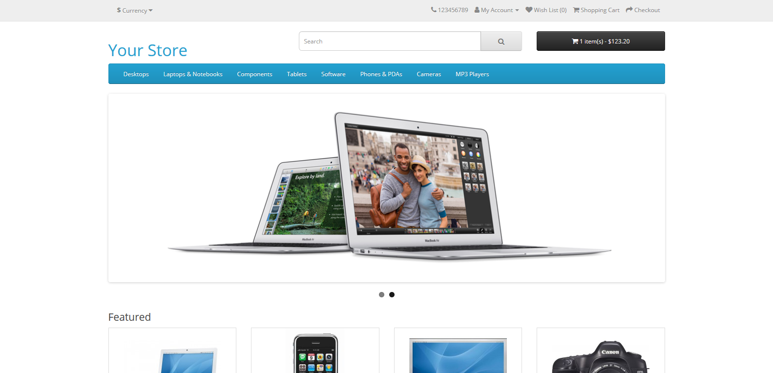 E-trgovina sajt na open cart-u